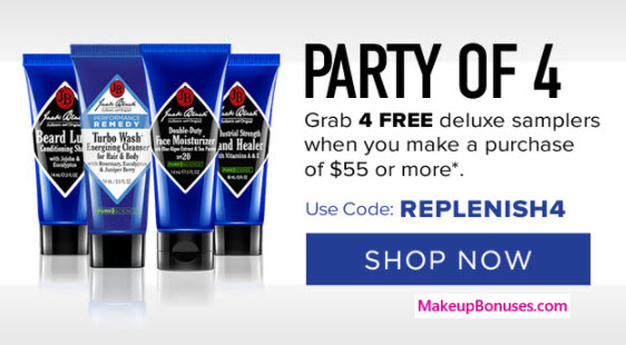 Receive a free 4-pc gift with your $55 Jack Black purchase
