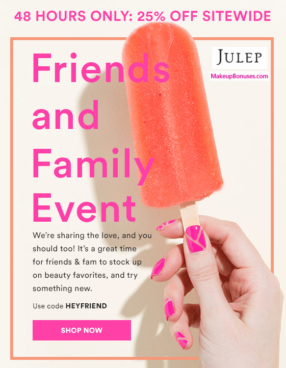 Julep 25% Off - MakeupBonuses.com