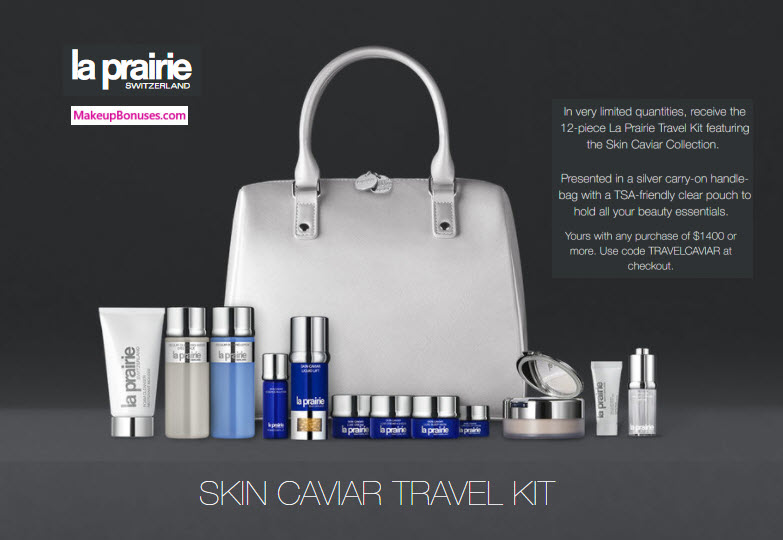 Receive a free 13-pc gift with your $1400 La Prairie purchase