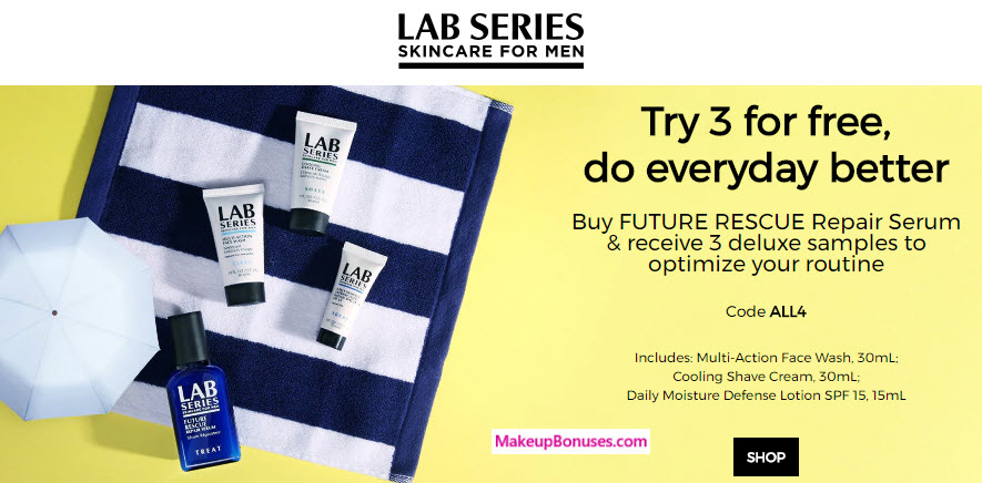 Receive a free 3-pc gift with your FUTURE RESCUE REPAIR SERUM ($60) purchase
