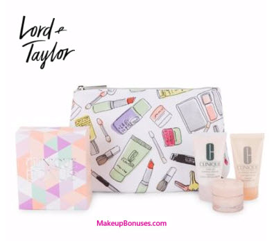 Clinique 4-piece Free Bonus Gift with $28 Purchase at Lord & Taylor