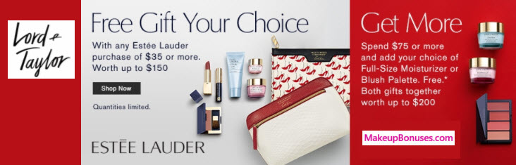 Estée Lauder Free Promo Gifts with Purchase at Lord & Taylor