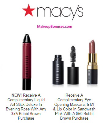 Macy's Free Gift Offers from AHAVA, bareMinerals, Bobbi Brown, Borghese, Clarins, + more!