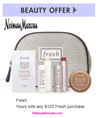 Receive a free 4-pc gift with your $125 Fresh purchase