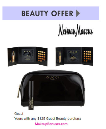 Receive a free 4-pc gift with your $125 Gucci purchase