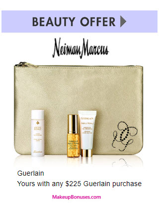 Receive a free 4-pc gift with your $225 Guerlain purchase