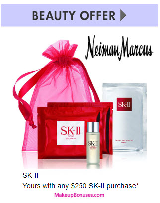 Receive a free 4-pc gift with your $250 SK-II purchase