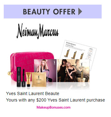 Receive a free 6-pc gift with your $200 Yves Saint Laurent purchase