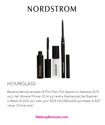 Receive a free 3-pc gift with your $125 Hourglass purchase