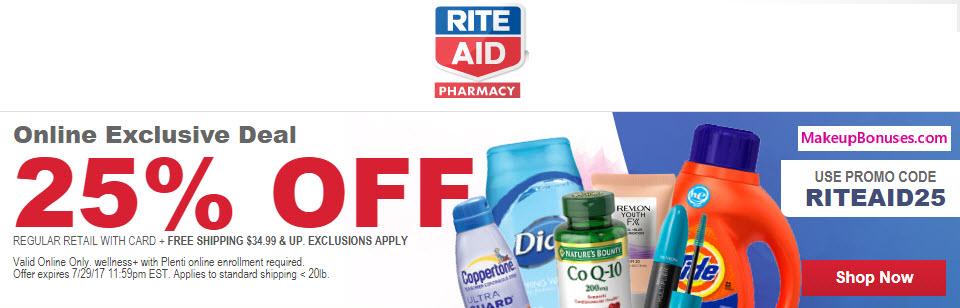 Rite Aid Sale - MakeupBonuses.com