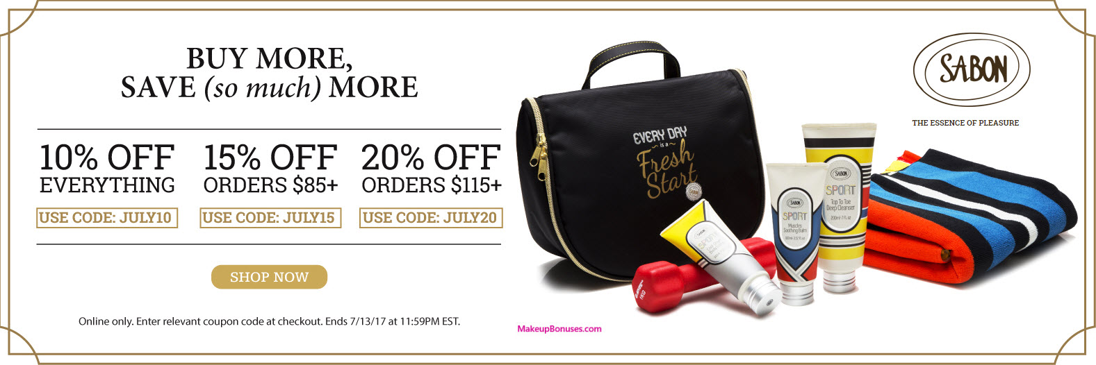 Sabon 20% Off - MakeupBonuses.com
