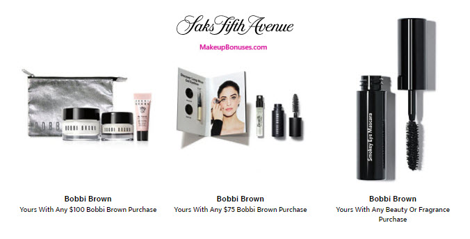 Receive a free 7-pc gift with your $100 Bobbi Brown purchase