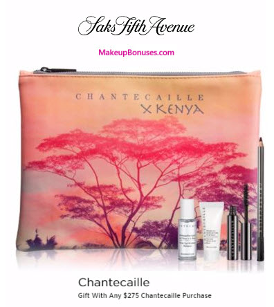 Receive a free 4-pc gift with your $275 Chantecaille purchase