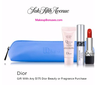 Receive a free 4-pc gift with your $175 Dior Beauty purchase