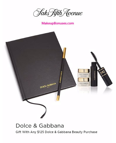 Receive a free 4-pc gift with your $125 Dolce & Gabbana purchase