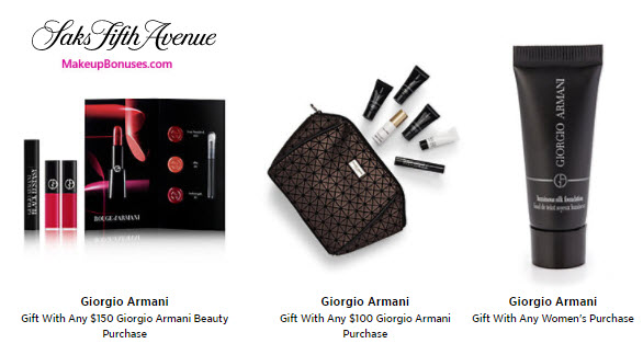 Receive a free 7-pc gift with your $100 Giorgio Armani purchase