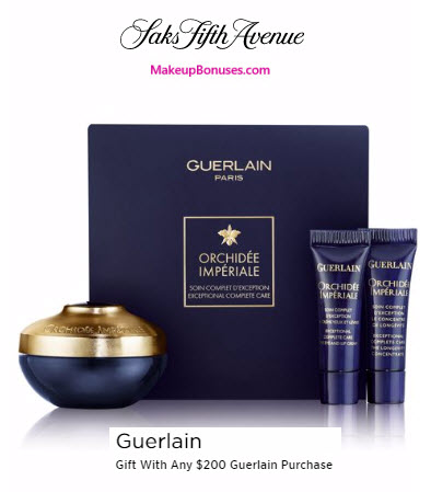 Receive a free 3-pc gift with your $200 Guerlain purchase