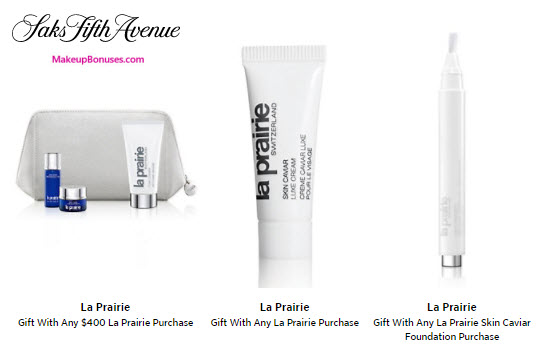 Receive a free 5-pc gift with your $400 La Prairie purchase