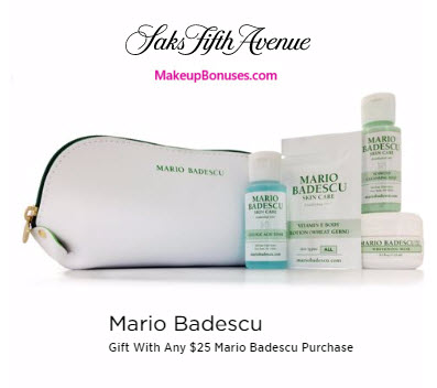 Receive a free 6-pc gift with your $25 Mario Badescu purchase