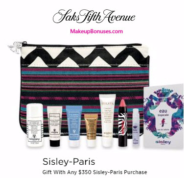 Receive a free 8-pc gift with your $350 Sisley Paris purchase