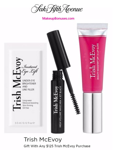 Receive a free 3-pc gift with your $125 Trish McEvoy purchase