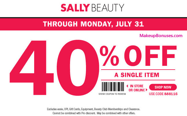 SALLY BEAUTY 40 OFF COUPON