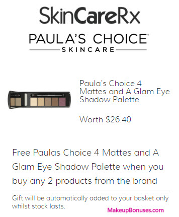 Receive a free 6-pc gift with your 2 Paula's Choice Products purchase