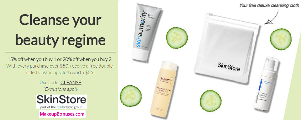 SkinStore.com Sale - MakeupBonuses.com