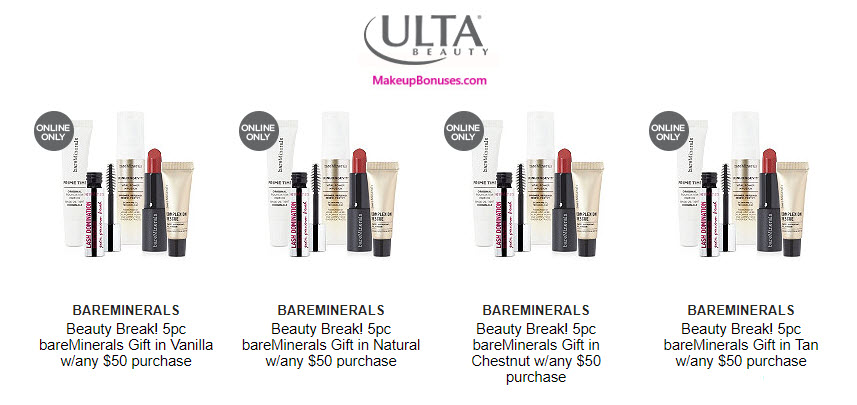 Ulta BEAUTY BREAK and Free Bonus Gifts with Purchase Promo Offers from Color Wow and Neutrogena