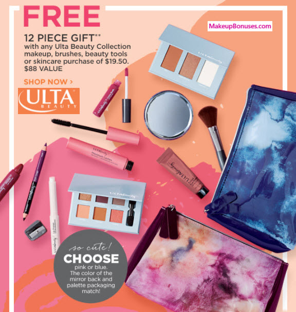 ULTA Beauty 12-piece Gift with Purchase - MakeupBonuses.com