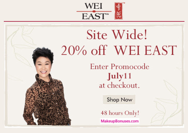 Wei Beauty 20% Off - MakeupBonuses.com