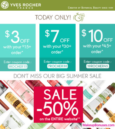 Yves Rocher Sale - MakeupBonuses.com