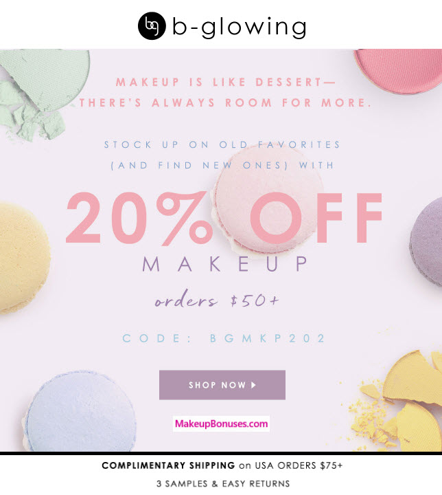 b-glowing Sale - MakeupBonuses.com