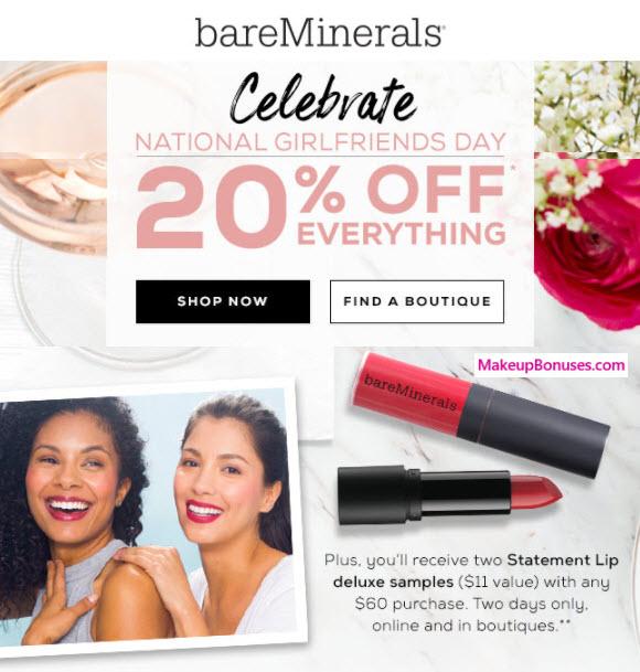 bareMinerals Sale - MakeupBonuses.com