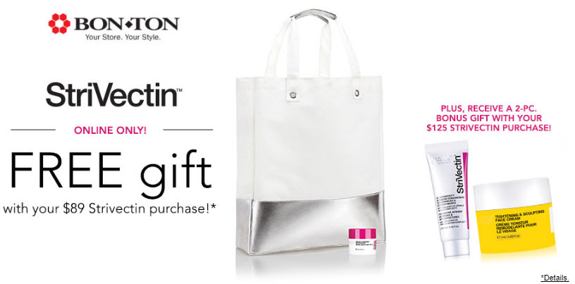 Receive a free 4-pc gift with your $125 StriVectin purchase