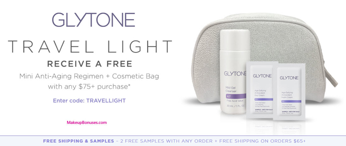 Receive a free 4-pc gift with your $75 Glytone purchase