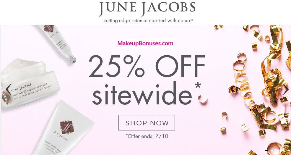 June Jacobs 25% Off - MakeupBonuses.com