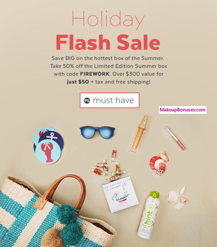 PopSugar Ltd Ed 50% Off - MakeupBonuses.com