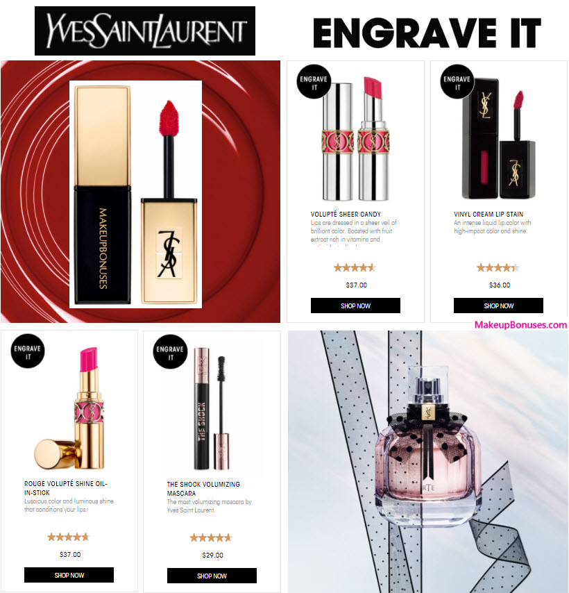 2017 Yves Saint Laurent - MakeupBonuses.com