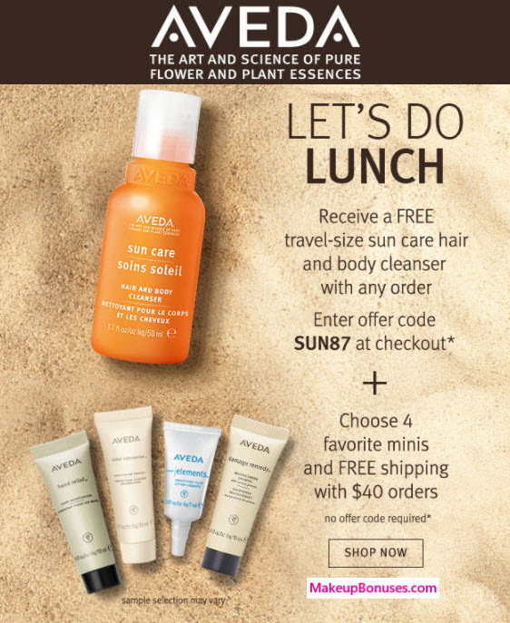 Aveda coupon codes