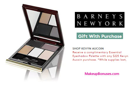Receive a free 5-pc gift with your $225 Kevyn Aucoin purchase