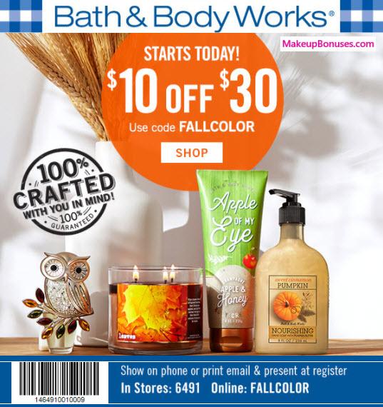 Bath & Body Works Sale - MakeupBonuses.com