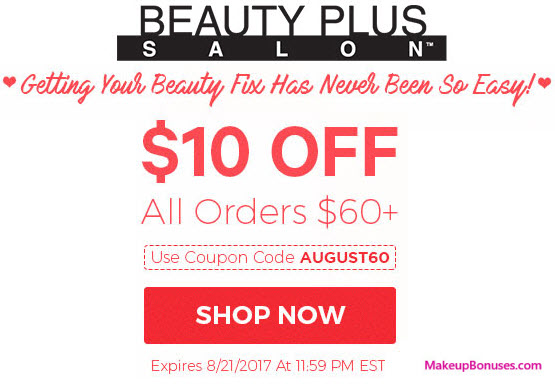Beauty Plus Salon Sale - MakeupBonuses.com
