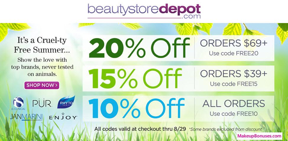 BeautyStoreDepot.com Sale - MakeupBonuses.com