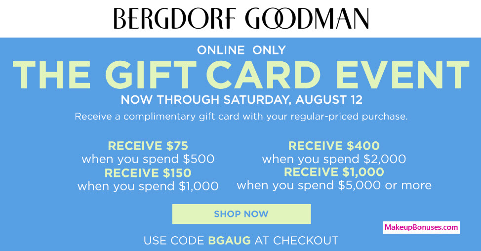 How to use a Bergdorf Goodman coupon Bergdorf Goodman offers free shipping upgrades on orders of $ or more, via the ongoing promotion on their website. Be sure to shop their