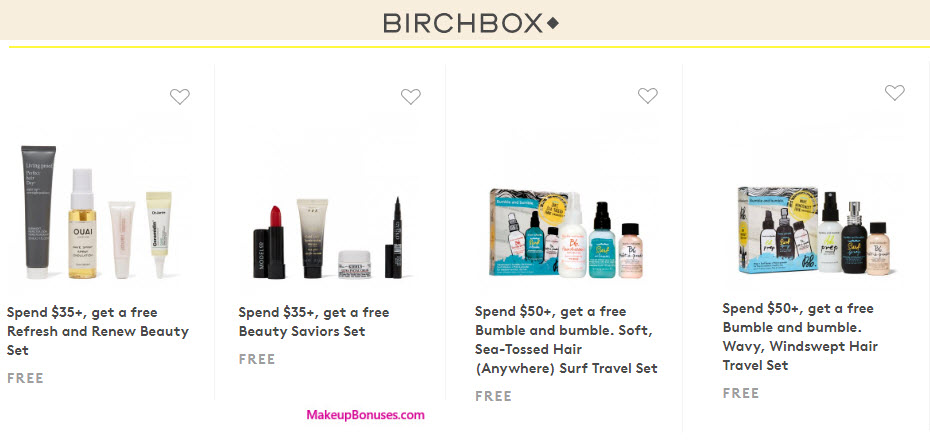 Receive a free 4-pc gift with your $35 Multi-Brand purchase