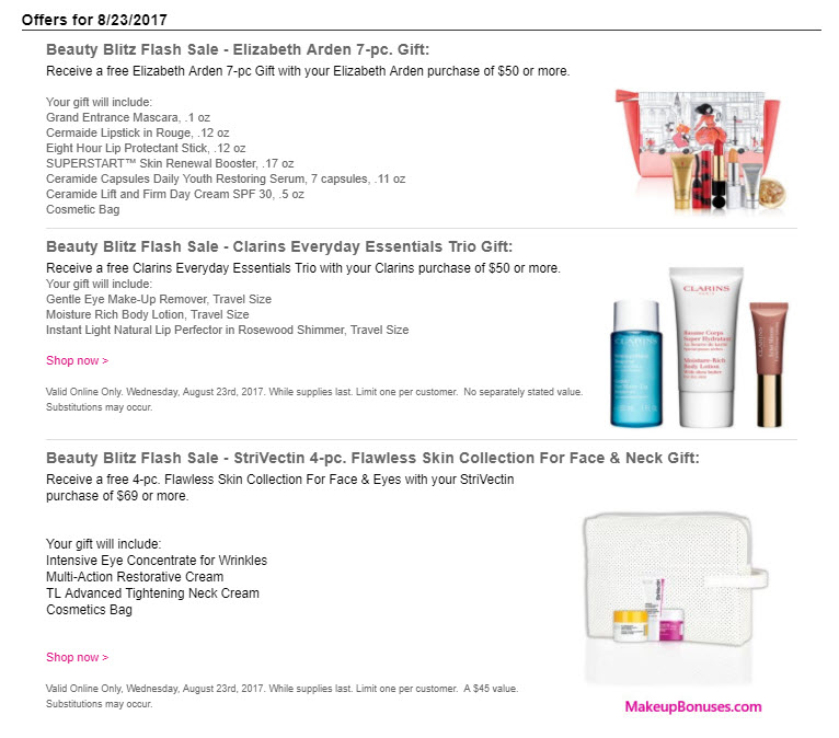 ONE DAY ONLY BEAUTY SPECIALS