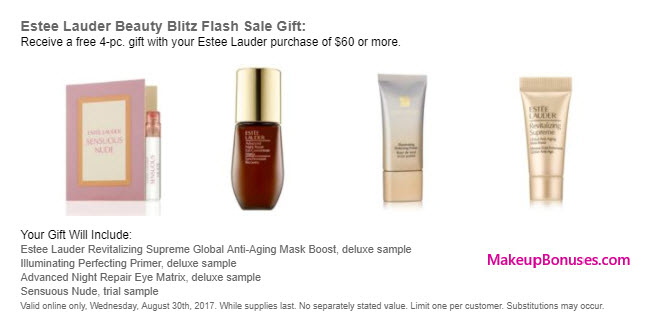 Receive a free 4-pc gift with your $60 Estée Lauder purchase