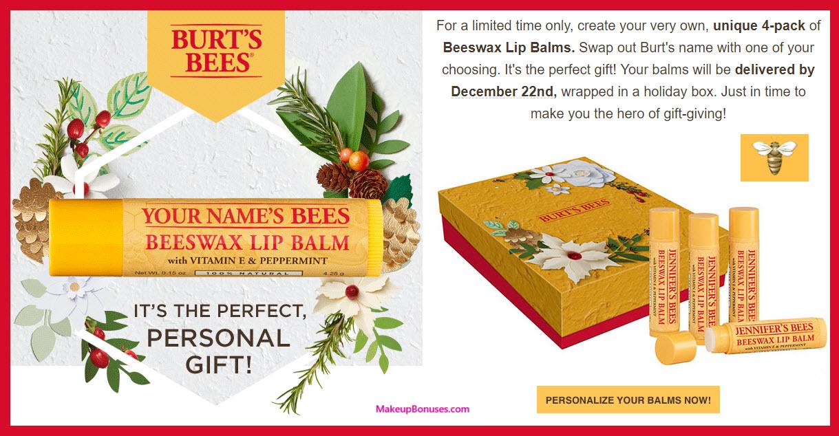 2017 Burt's Bees- MakeupBonuses.com