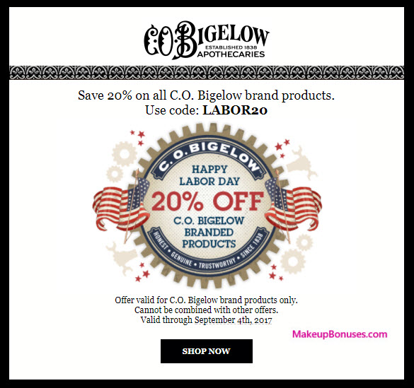 C.O. Bigelow Sale - MakeupBonuses.com